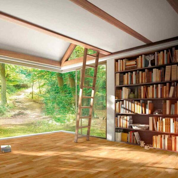 Roble Natur 3L - Madera Multicapa Parador Classic 3060 ambiente librería