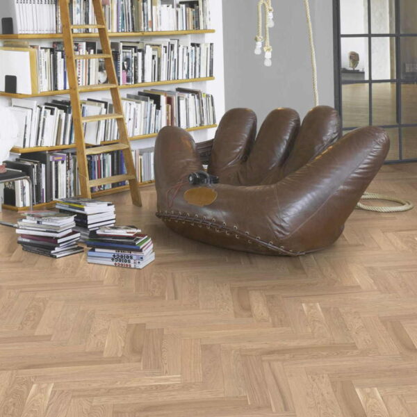 Roble Espiga Living Pure - Madera Multicapa Parador Trendtime 3 ambiente salón