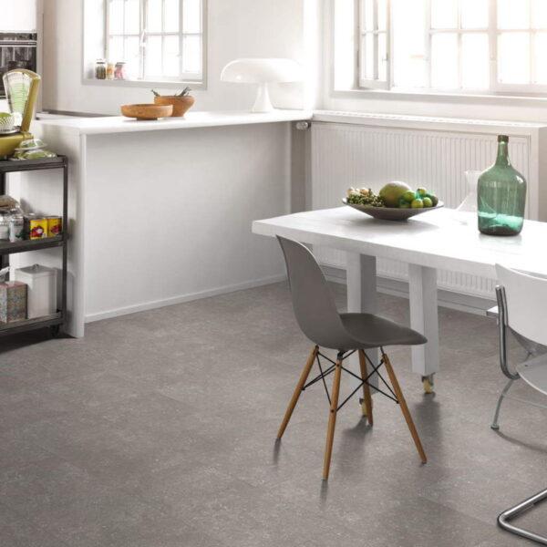 Granito Gris - Vinílico Parador Modular ONE Baldosa Grande ambiente cocina