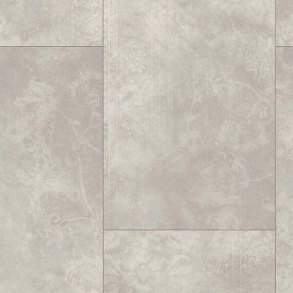 Cemento Ornament Gris Claro - Vinílico Parador Modular ONE Baldosa Grande detalle