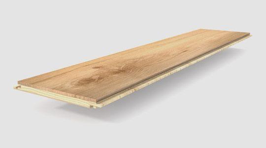 Grosor y tamaño de la tarima de madera