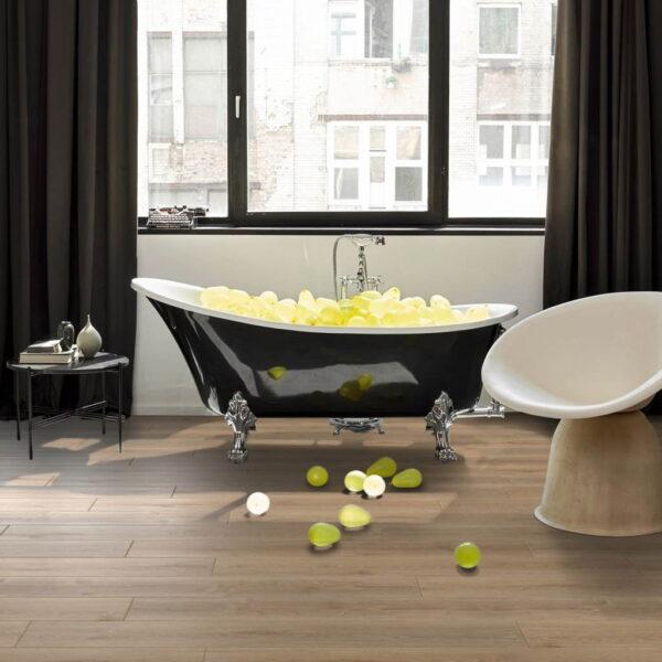 Roble Royal Claro Calizo - Vinílico SPC Parador Classic 2070 ambiente baño