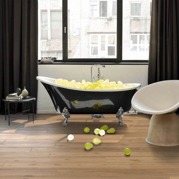 Roble Natur - Vinílico SPC Parador Classic 2070 ambiente baño