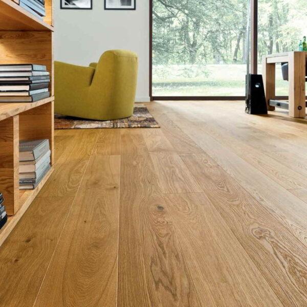 Roble Markant Premium Cepillado - Madera Multicapa Haro 4000 ambiente habitación