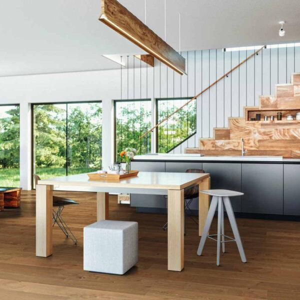 Roble Markant Premium Cepillado - Madera Multicapa Haro 4000 ambiente salón