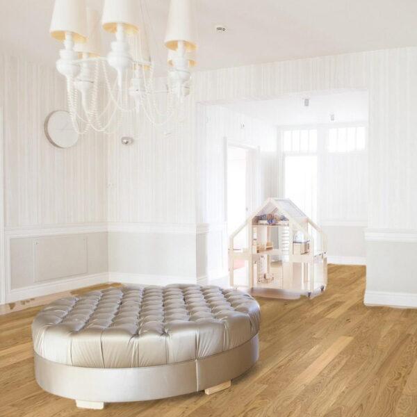 Roble Living Aceite Natural Plus - Madera Multicapa Parador Classic 3025 ambiente dormitorio