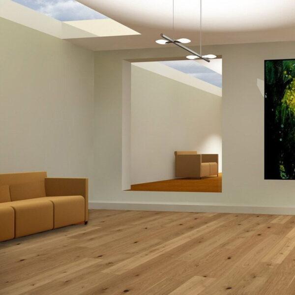 Roble Living Aceite Natural Plus - Madera Multicapa Parador Classic 3025 ambiente salón