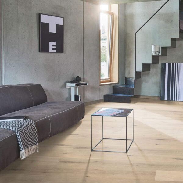 Roble Rústico Aceite Natural Blanco Plus - Madera Multicapa Parador Classic 3025 ambiente salón