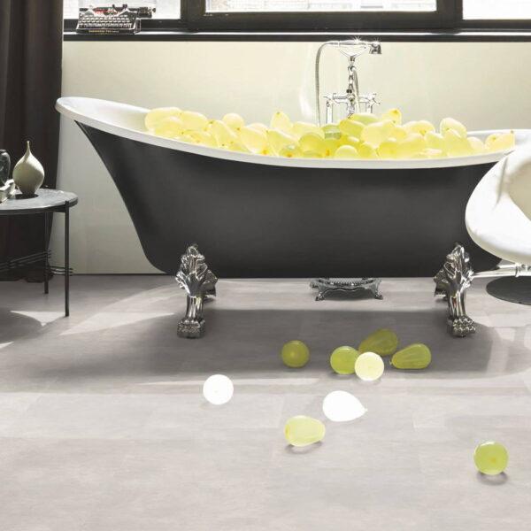 Cemento Blanco - Vinílico SPC Parador Modular ONE Hydron Baldosa ambiente baño