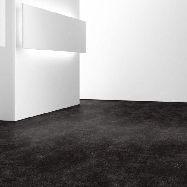 Granito Antracita - Vinílico SPC Parador Trendtime 5 Baldosa Grande ambiente sala