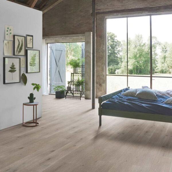 Roble Urban Gris Calizo - Vinílico Parador Modular ONE 1 Lama ambiente dormitorio