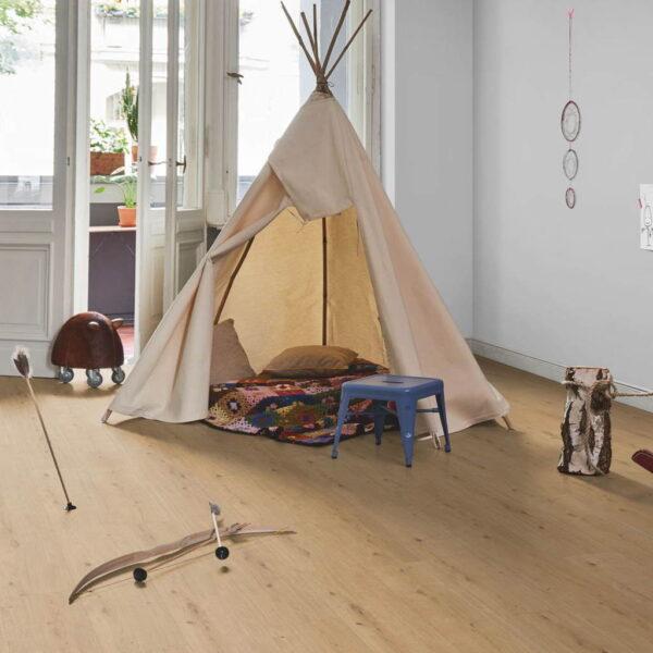 Roble Atmosphere Natur XXL - Vinílico Parador Modular ONE ambiente dormitorio